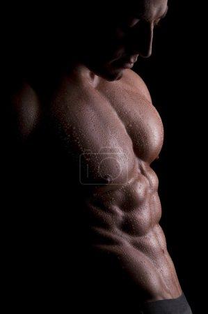 Muscular, male body