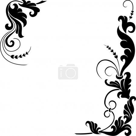 Illustration for Stylized floral design. - Royalty Free Image