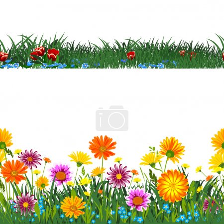 Illustration for Seamless horizontally. - Royalty Free Image