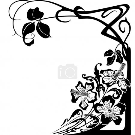 Illustration for Flowers and floral design in Art Nouveau style. - Royalty Free Image