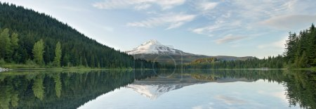Photo pour Mont hood du panorama oregon lac trillium - image libre de droit