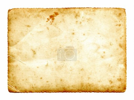 Old paper card