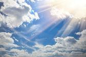 Clear Blue Sky with sunshine