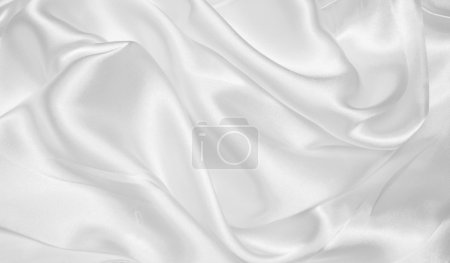 Photo for Smooth elegant white silk as background - Royalty Free Image