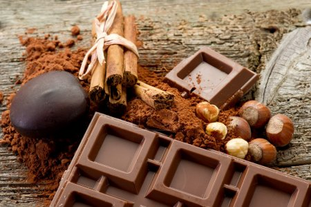 Photo for Chocolate with ingredients - Royalty Free Image