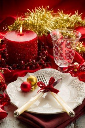Red xmas luxury table