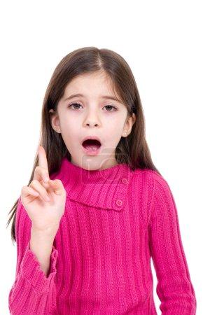 Photo pour Petite fille dire non - image libre de droit