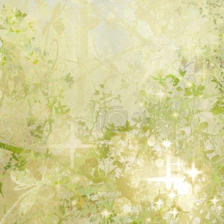 Photo pour Vert scintillant et lumières Art de jardin fond texturé - image libre de droit