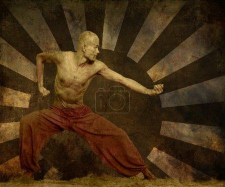 Photo pour Artiste martial Grunge Art Arrière-plan avec espace de texte - image libre de droit