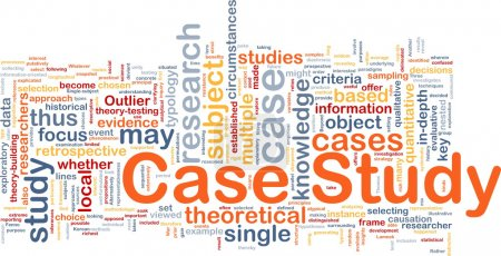 Photo for Background concept wordcloud illustration of case study - Royalty Free Image