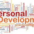 Background concept wordcloud illustration of perso...