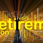 Background concept wordcloud illustration of retir...
