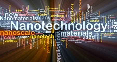 Nanotechnology background concept glowing