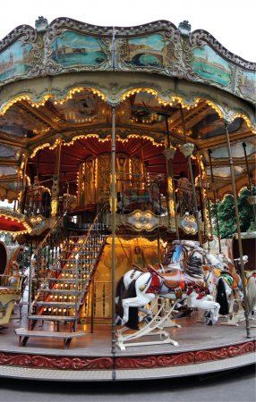 An old fashioned carousel
