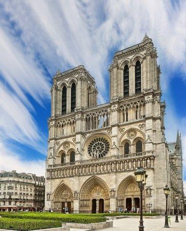Photo pour Cathédrale Notre Dame - Paris - image libre de droit