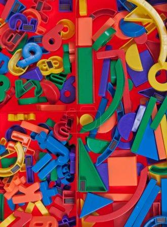 Photo for Plastic blocks, geometrical figures - Royalty Free Image
