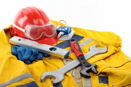 Photo for Safety gear kit close up - Royalty Free Image