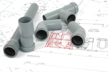 PVC fittings for drainage and plumbing plans