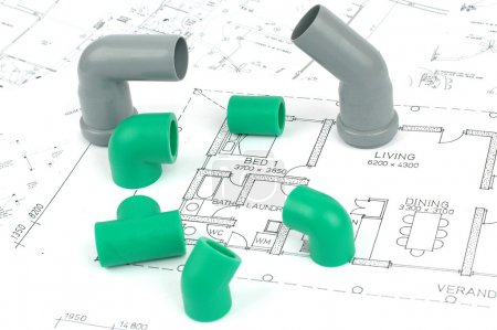 Plumbing plans and plumbing fittings