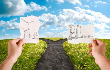 Choose the alternative energy source, wind power o...