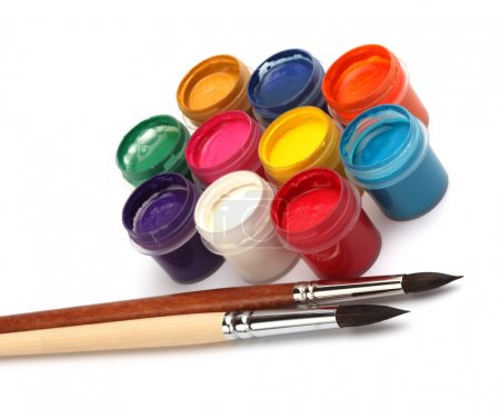 Photo for Paint brush and colors - Royalty Free Image
