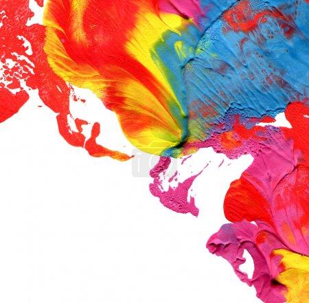 Foto de Acrílico abstracto pintado a fondo - Imagen libre de derechos