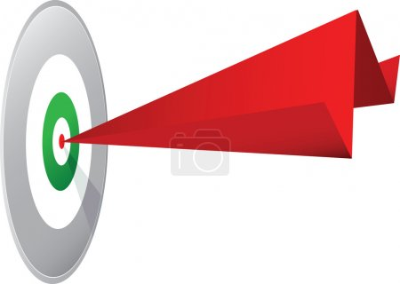 paper dart in bullseye