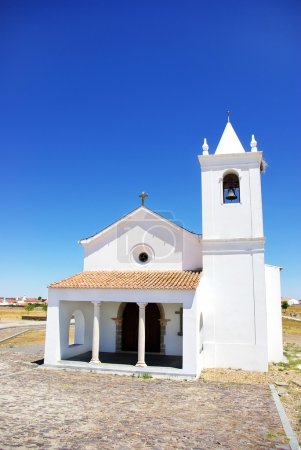 Church in Luz village, Portugal.