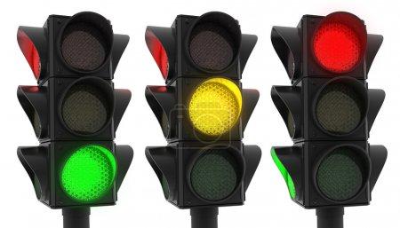 Photo pour Icône de feux de circulation (fait en 3d, isolé) - image libre de droit