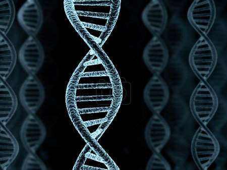 Photo for DNA spiral model, background (done in 3d) - Royalty Free Image