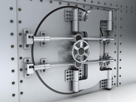 Banking metallic door, vault (done 3d)...