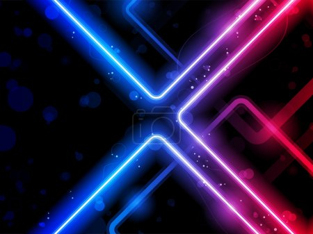 Illustration for Vector - Rainbow Lines Background Neon Laser - Royalty Free Image
