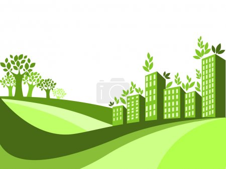 Illustration for Green city - the concept of ecology - Royalty Free Image