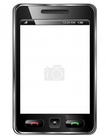 Photo pour Téléphone mobile, smartphone moderne isolé. - image libre de droit