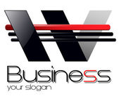 Logo for business dynamic black and red