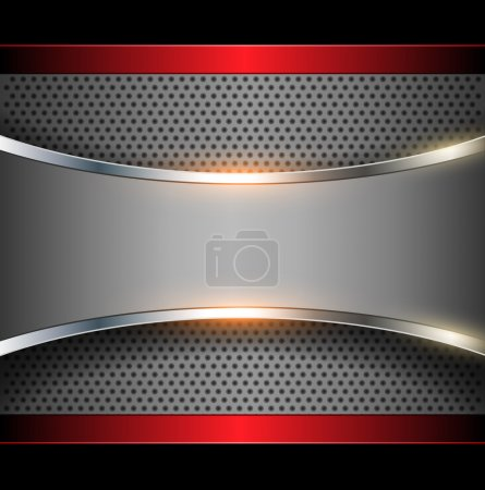 Illustration for Abstract background elegant metallic, vector. - Royalty Free Image