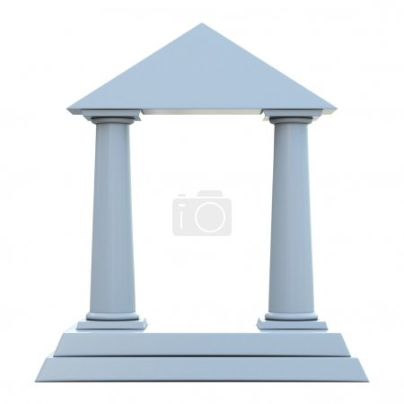 Ancient building with 2 columns