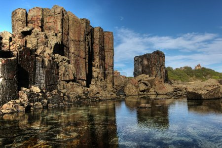 Coastal rock formations