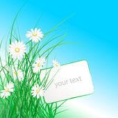 Ein Blumenstrauß mit dem ticket