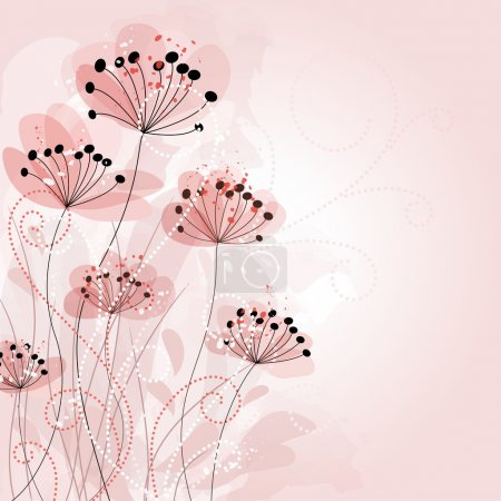 Illustration for Romantic Flower Background - Royalty Free Image