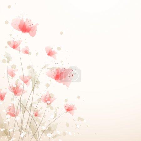 Illustration pour Fond de fleur romantique - image libre de droit