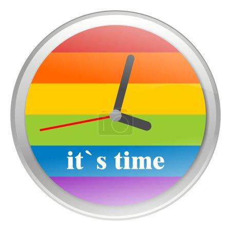 Photo pour Regarder avec un drapeau gay coloré disponible - image libre de droit