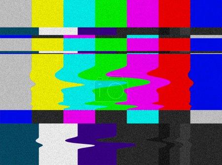 TV bars signal error.