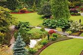 Lush botanical garden