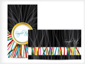Colorful ribbons on business card