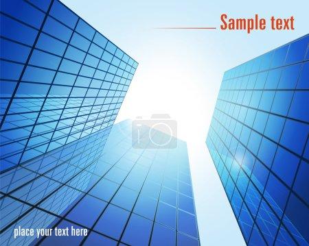 Blue glass modern buildings