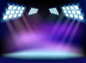 Blue spotlights Vector illustration