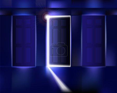 Corridor with open door