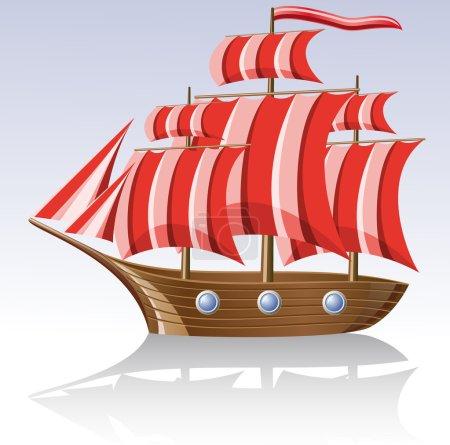 Old wooden sailing vessel
