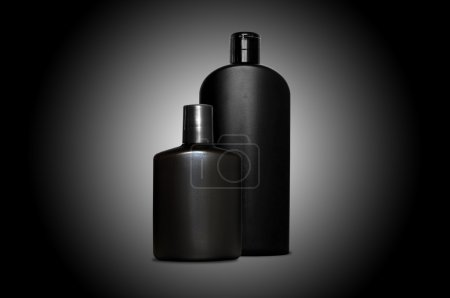 Personal skin care products for men over black